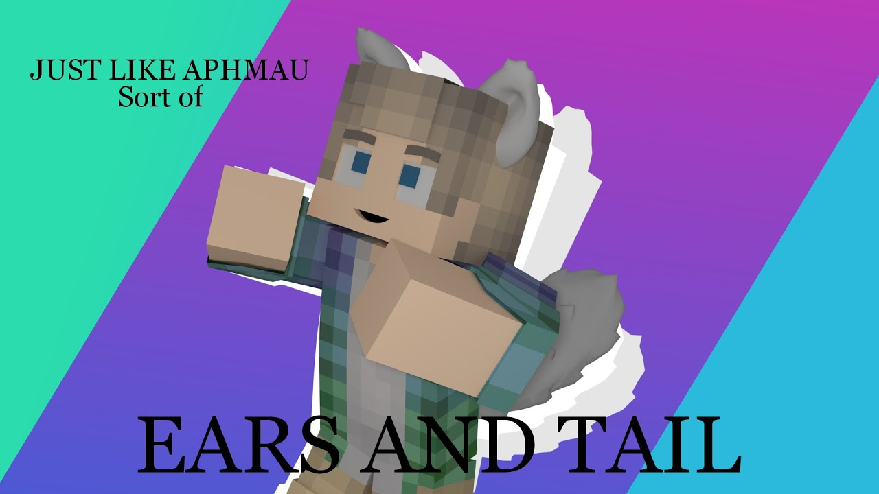 Minecraft tutorial How to add 10d models into minecraft [WEREWOLF EARS]  LIKE APHMAU (Sort of)