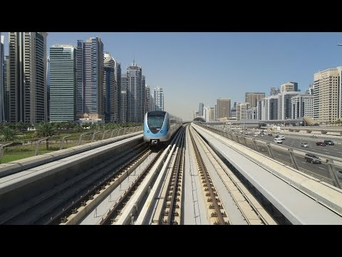 DUBAI METRO ride : Internet City → Emirates Towers