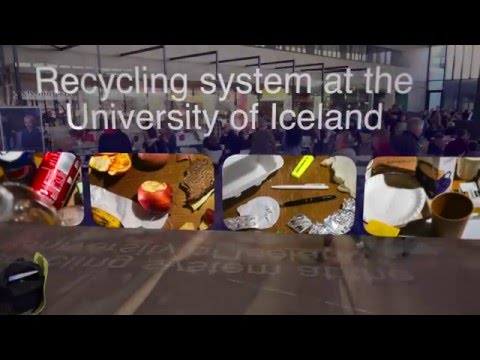 Recycling system at the University of Iceland