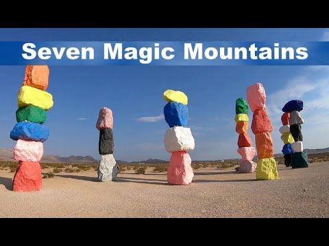 Seven Magic Mountains - Modern Art or Modern Eyesore?  You Decide - Please Watch for Rattlesnakes!