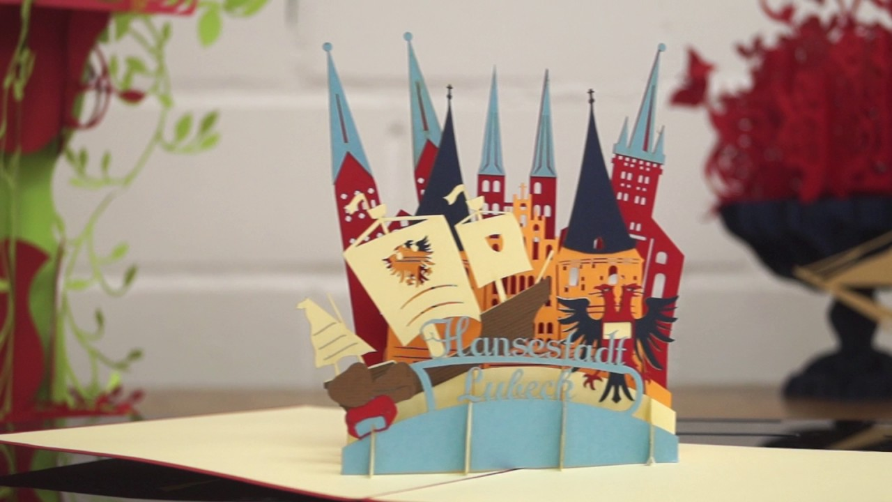Lübeck Card Pop Up Greeting Card Luebeck City Nr 219