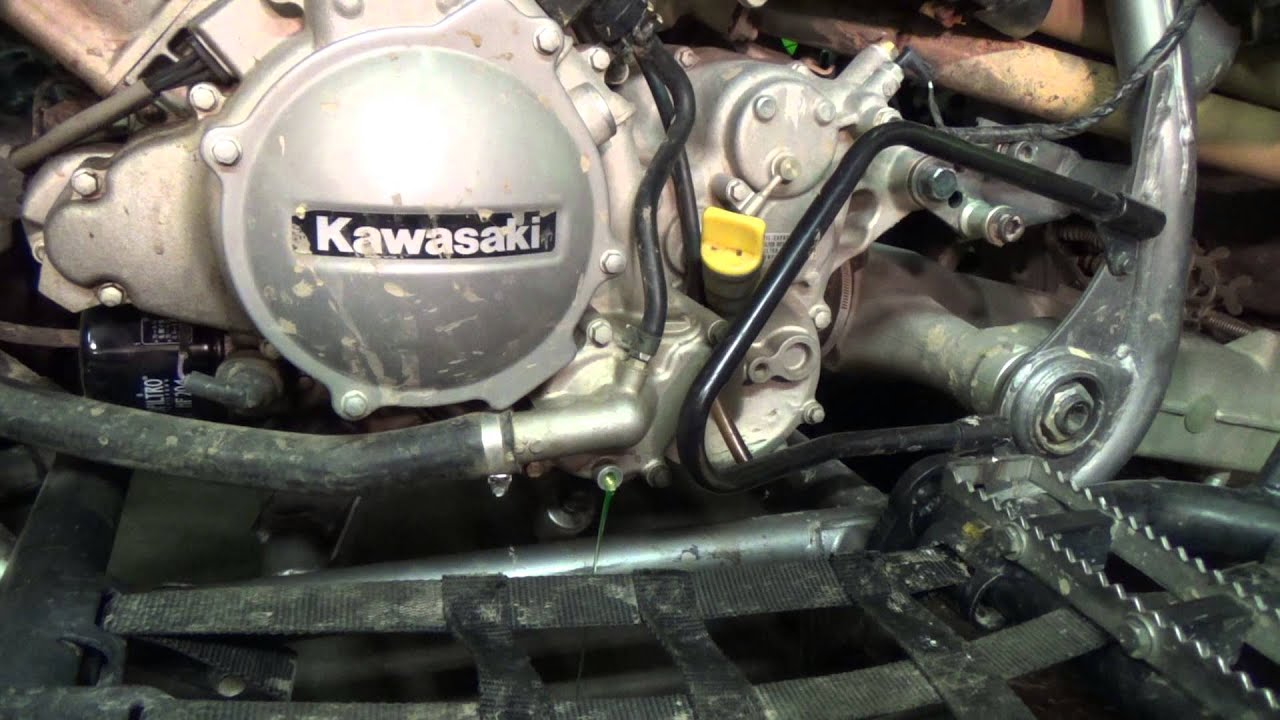 Kawasaki KFX 700 Draining some coolant YouTube – Kawasaki Prairie 700 Engine Diagram
