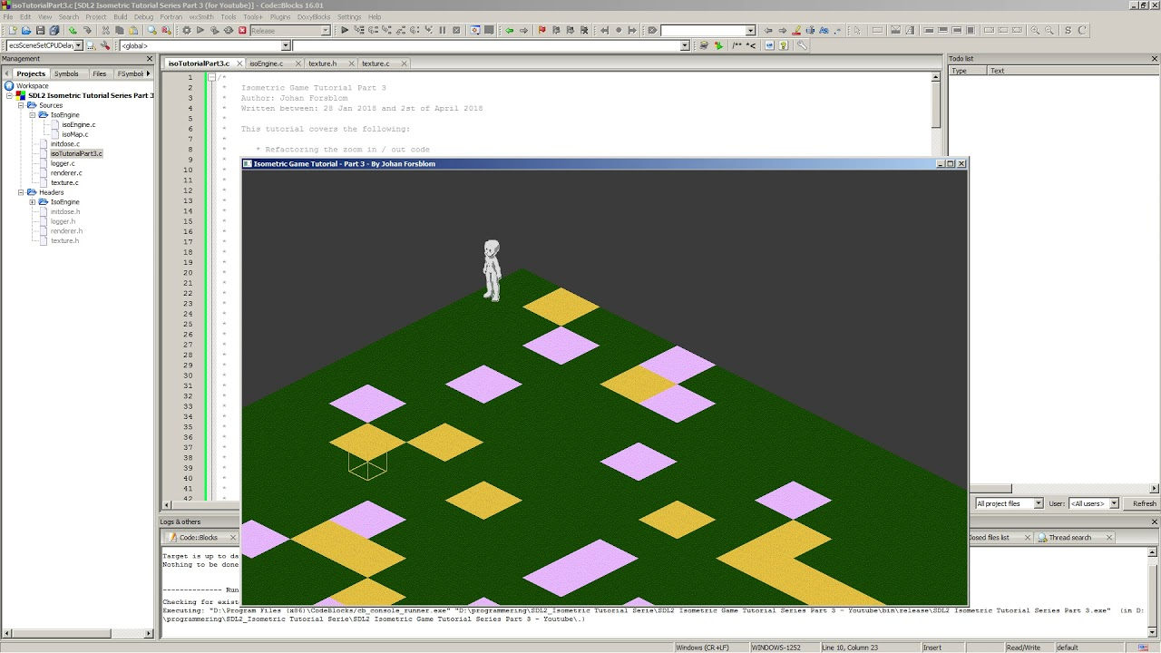 SDL 2 Isometric Tutorial Part 3 - Entity Component System - Session 1 of 4