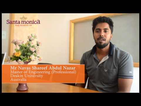 Mr Navas Shareef Abdul Nazar - Master of Engineering Professional -  Deakin University -  Australia