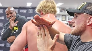 Logan Paul - SHADOW BOXING with Trainer Shannon Briggs | KSI vs. Logan Paul 2