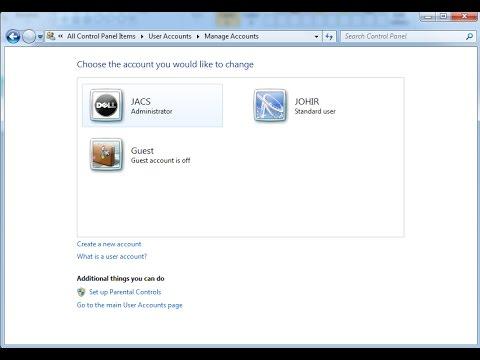 How to Create Standard/Administrator User Accounts (Windows)