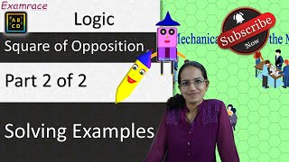 Square of Opposition - Solving Examples