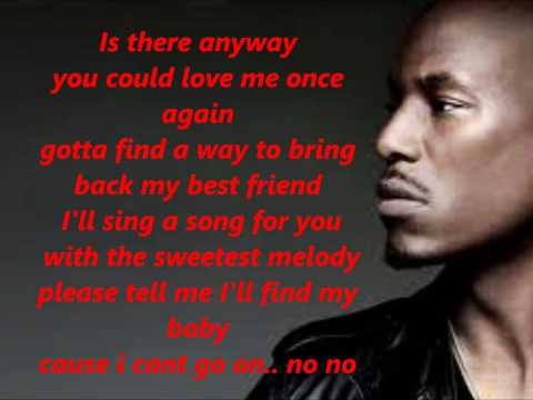 Tyrese I cant go on lyrics