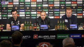 Die PK nach dem Sachsenderby SG Dynamo Dresden - FC Erzgebirge Aue 1:1