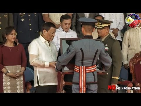 "TALUMPATI Ni PANGULONG DUTERTE SA GRADUATION CEREMONY NG PMA ""ALAB TALA""  CLASS OF 2018"