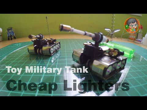 How to Make Military Toy Tank made from Cheap Lighters | Limbah Korek Gas
