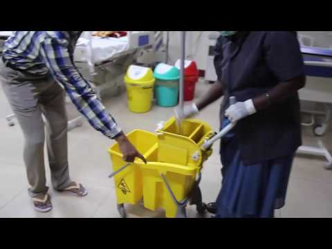 floor cleaning|hospital floor cleaning|hospital infection control|double bucket cleaning procudure