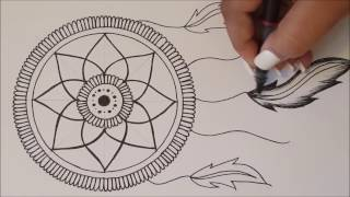 HOW TO DRAW mandala DreamCatcher / Speed Draw