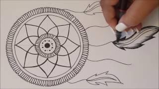 HOW TO DRAW mandala DreamCatcher / Speed Draw