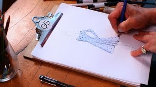 How to Draw a Pattern | Fashion Sketching
