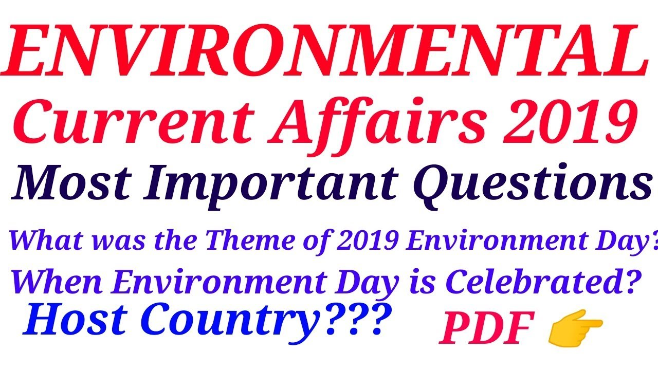 Environmental Current Affairs |2019|GK|Current Affairs|Special Education