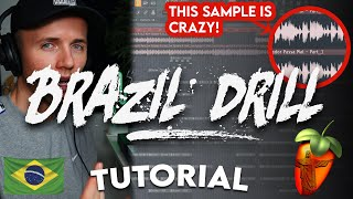 MAKING A BRAZILIAN INSPIRED DRILL BEAT (How To Make A Drill Beat - FL Studio)