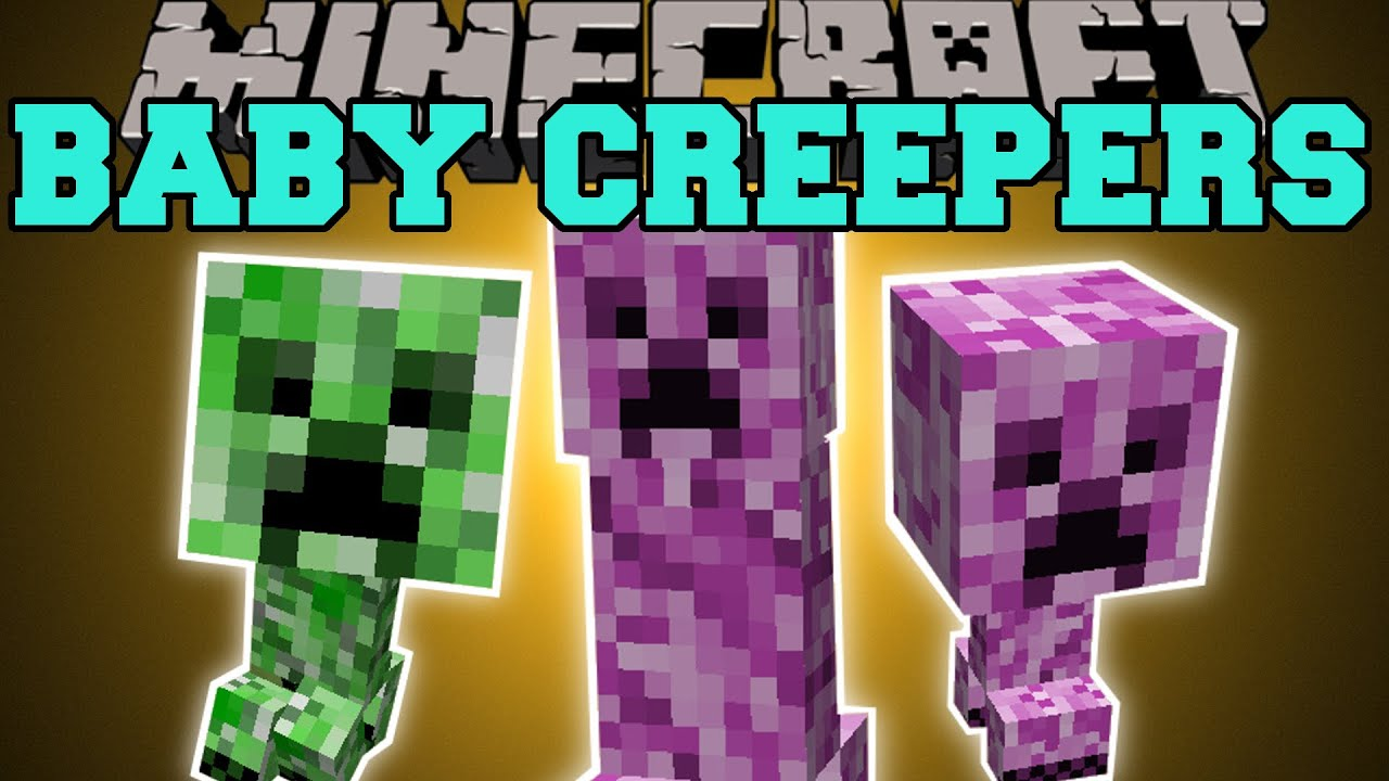 Minecraft: BABY CREEPERS MOD (FEMALE CREEPERS, CREEPER ...