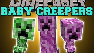 Minecraft: BABY CREEPERS MOD (FEMALE CREEPERS, CREEPER ARMOR, & EXPLOSIVE EGGS!) Mod Showcase
