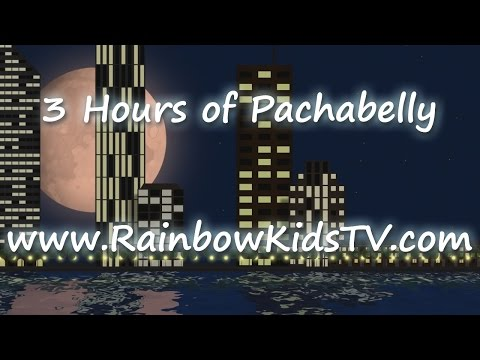 3 Hours of relaxing urban skyline with pacifying music - Huma Huma Pachabelly by Rainbow Kids TV