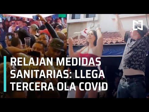 Tercera ola de covid en México | Aglomeraciones en chelerías de Tepito - En Punto