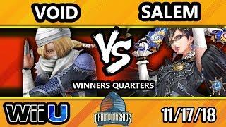 DHATL18 Smash 4 - CLG | VoiD (Sheik) Vs. Liquid | Salem (Bayonetta) - Wii U Winners Quarters