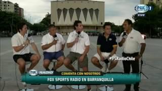 ¡Tremenda! La broma del equipo de Fox Sports Chile a Jorge Cubillos.