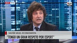 """""""Respeto mucho a Espert"""" Milei con Baby Etchecopar- 26/03/19"""