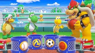 Super Mario Party - All Free-For-All Minigames - Bowser Vs Peach Vs Yoshi Vs Toad Fun Games To Play