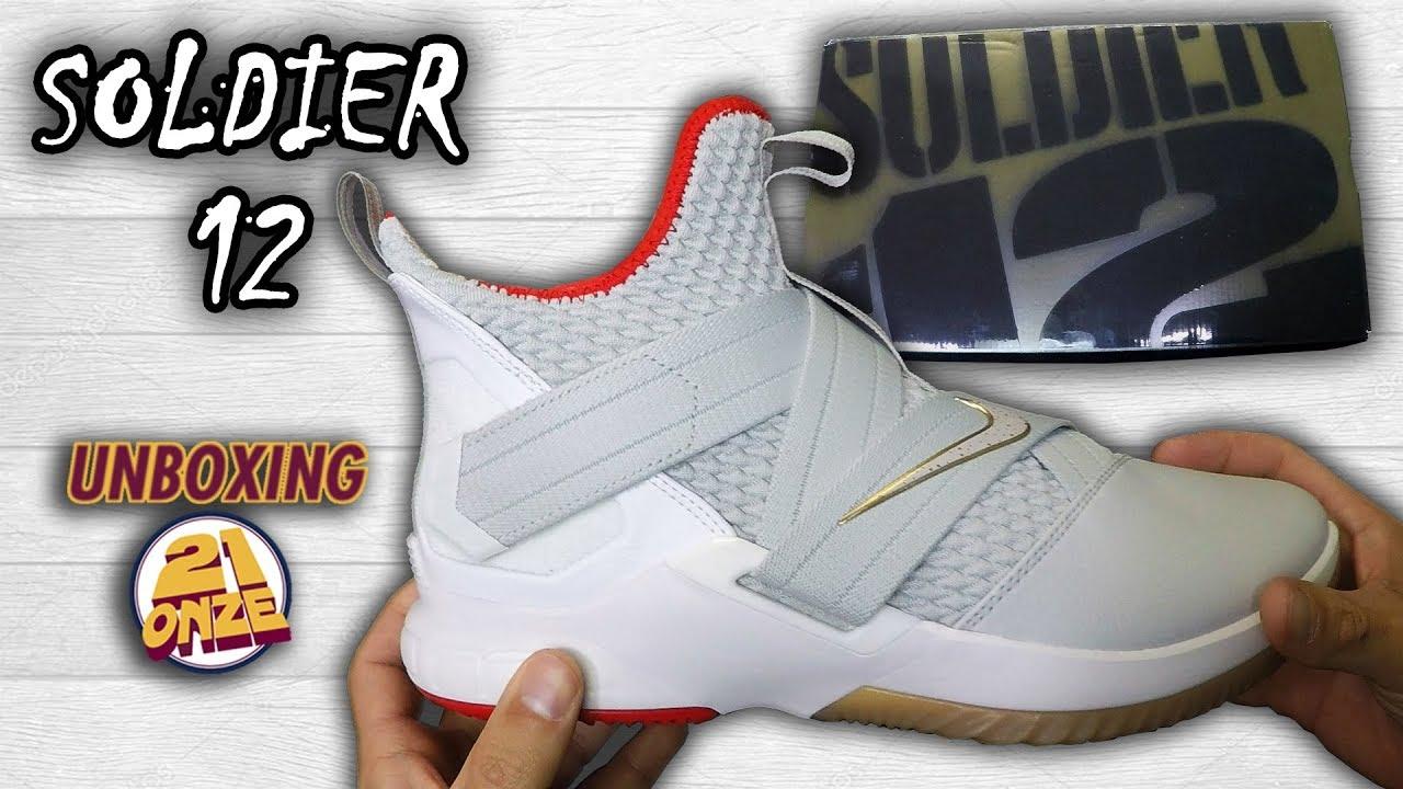 """2b19adff6fb4 Unboxing Nike LEBRON SOLDIER XII """"LIGHT BONE"""" - YouTube"""