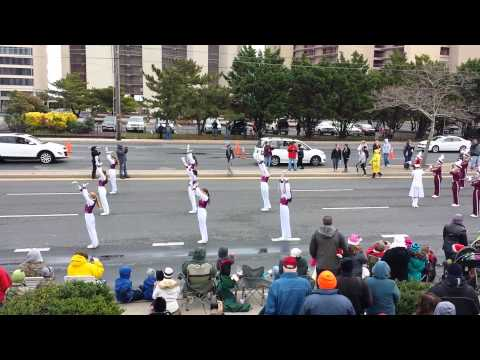 Snow Hill High School Band performs at O.C. Christmas parade 2013