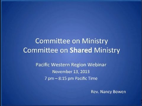 Committee on Shared Ministry 11 13 2013