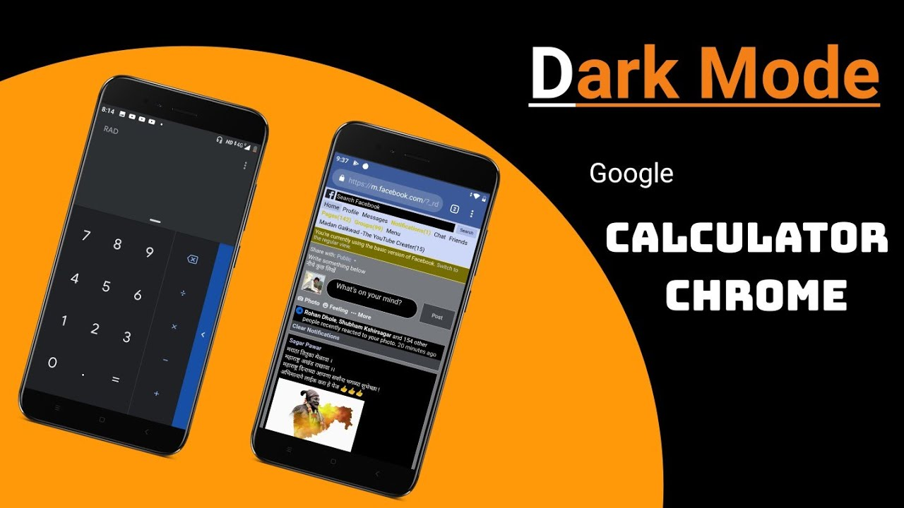 Enable Dark mode in Google Calculator & Chrome