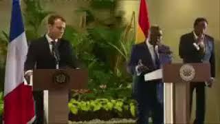 President Nana Akufo Addo Speech + French President Emmanuel Macron in Ghana