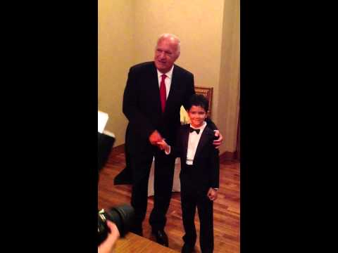 Yousuf with Omar Khairat backstage