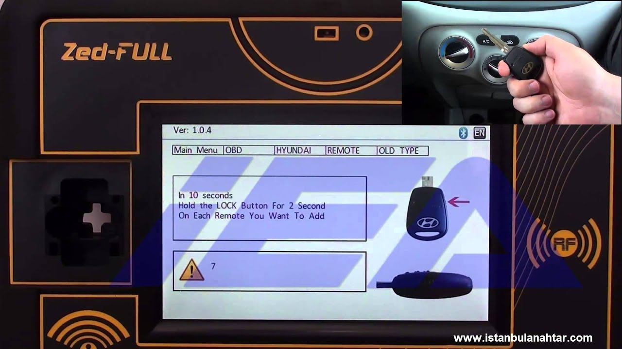 Obd Hyundai Remote Programming Youtube