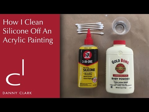 How I clean silicone off of an acrylic painting (EP25)