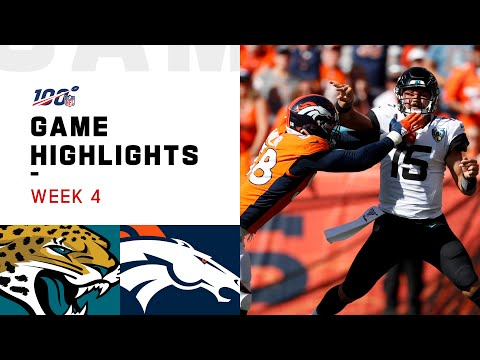 Jaguars Vs. Broncos Week 4 Highlights | NFL 2019