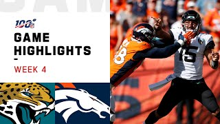Jaguars vs. Broncos Week 4 Highlights | NFL 2019