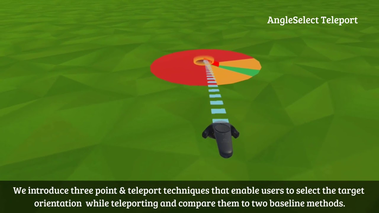 Assessing the Accuracy of Point & Teleport Locomotion with