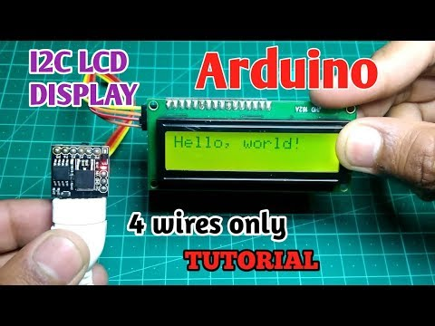 I2C LCD With Arduino | Convert A SPI LCD To I2C With PCF8574