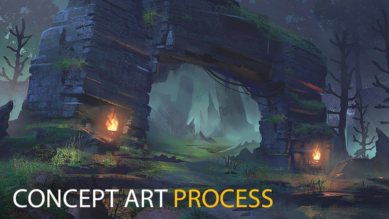 Final Fantasy Jungle Concept Art
