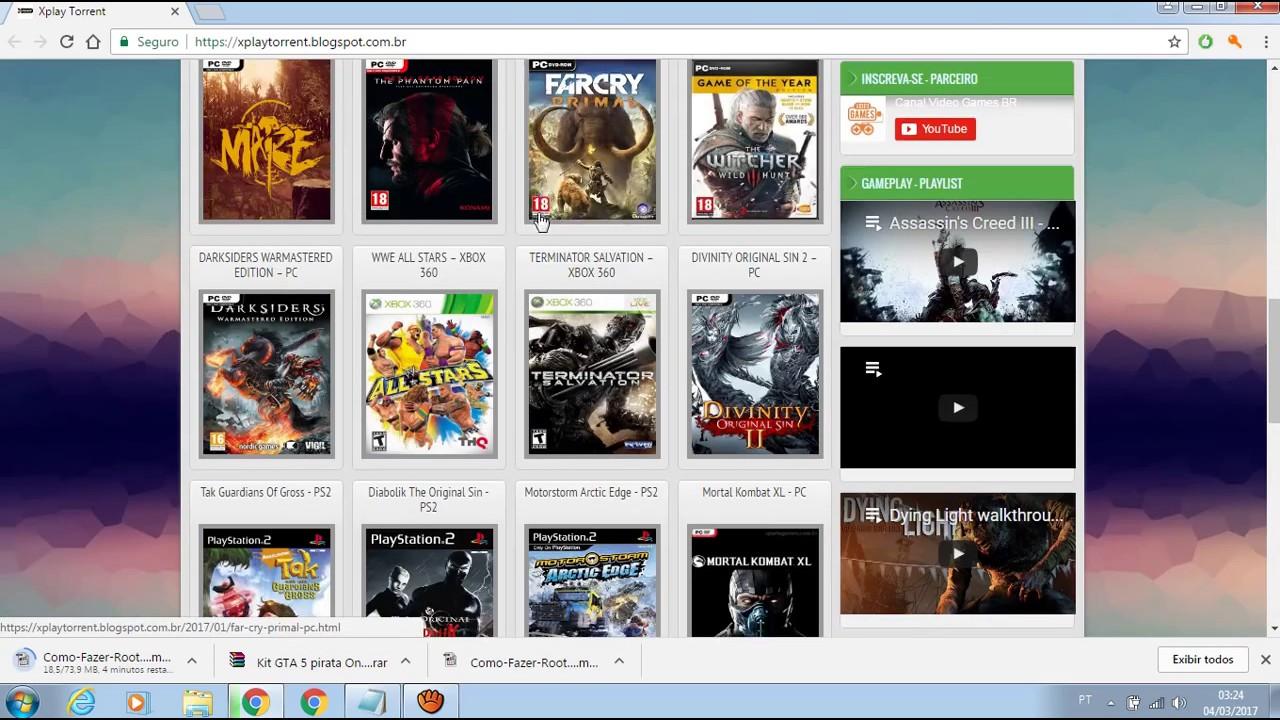 O Melhor Site Para Voce Baixar Games De Pc Ps3 Ps2 Xbox 360 Via Torrent 2017 Youtube
