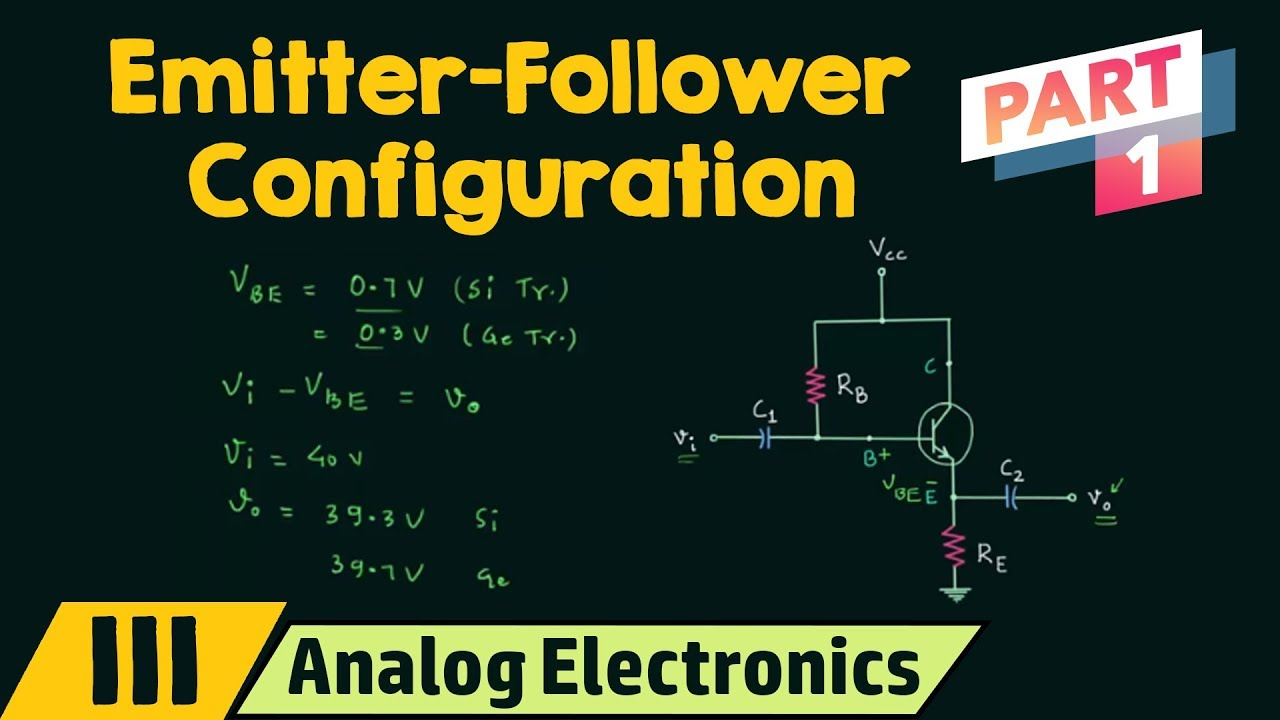 Emitter Follower Configuration Part 1 Youtube Analoglinefollowercircuitjpg