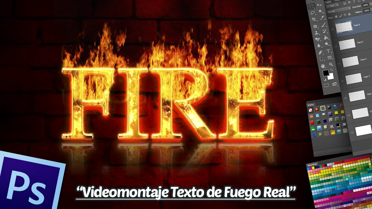 Videomontaje Texto de Fuego Real en Photoshop CS5 Extended.