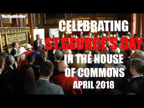 Royalist Crier celebrates St.George's Day in House of Commons