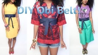 Download Video 1- #GaudyIsGood- How To Make An Obi Belt Out of Old Jeans MP3 3GP MP4