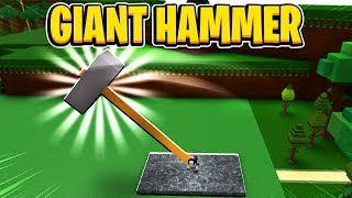 Giant Hammer In Build A Boat For Treasure In Roblox