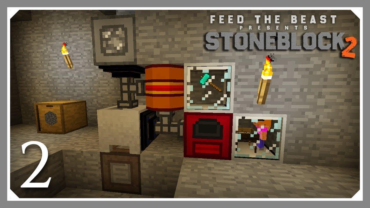 FTB Stoneblock 2 | Easy Lava RF Power! | E02 (FTB Stoneblock 2 Let's Play)