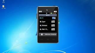 Como conectar WIFI com o celular LG   T375